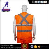 Veste barato reflexiva da segurança da alta qualidade, veste reflexiva de confeção de malhas da segurança