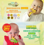 Toothbrush infantil e Teether do treinamento do silicone da banana do bebê