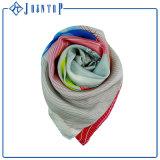 Écharpe luxueuse de soie de modèle d'impression de qualité de poids léger
