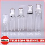 Bottiglia di plastica dell'animale domestico del cilindro trasparente 120ml con la pompa della lozione (ZY01-B065)