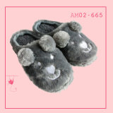 White Ladies Soft Fashion Plush Animal Indoor Slippers