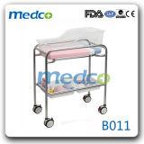 China-Lieferanten-Krankenhaus-Baby-Krippe/Feldbett (Edelstahl) mit Matratze