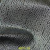 Cuero de zapatos material de la manera de la PU con el grano de piedra brillante clásico