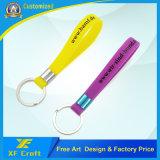 주문 Pantone 색깔 실리콘 열쇠 고리 홀더 (XF-WB04)를 가진 스크린에 의하여 인쇄되는 로고