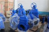 Дуктильная запорная заслонка резиновый вкладыша утюга с коническим зубчатым колесом (Z45X-10/16)