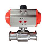두 배 임시 압축 공기를 넣은 액추에이터 3방향 공 벨브