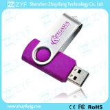 Movimentação roxa do USB do giro 16GB do presente romântico (ZYF1824)