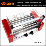형식 Durable Sausage Machine, Glass Cover & Door 의 세륨 Approved (WY-007D)를 가진 7 Rollers Electric Hot Dog Grill