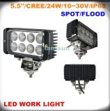 24W Rectangle LED Work Light voor Jeep Offroad 4X4 SUV