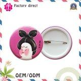 Fornecedor redondo plástico de China do emblema da tecla dos desenhos animados do bebê
