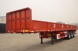 Reboque Flatbed do caminhão da carga da parede lateral do compartimento do eixo do serviço público 3