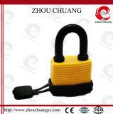 薄板にされた鋼鉄パッドロックは、高い安全性ロックに南京錠をかける