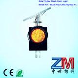 Indicatore luminoso d'avvertimento infiammante alimentato solare di colore giallo della lampada istantanea/LED di traffico di alta luminosità