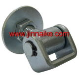 Resistente ajustável Soldar-na dobradiça da porta com placa redonda