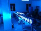Alta calidad 54X3W RGB aluminio DJ de luz estroboscópica