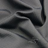 Agua y de la ropa de deportes tela tejida chaqueta al aire libre Viento-Resistente 100% de la pongis del poliester del telar jacquar de la tela escocesa del balompié abajo (53060)