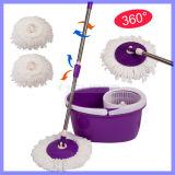 Living Home Clean Tools New Magic Spin Mop Bucket Sem Foot Pedal Girar Ferramentas de limpeza de 360 graus Double Drive Rotary Mop Retroproleira de aço inoxidável retrátil