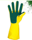 Перчатки латекса с перчатками чистки соскабливая пусковой площадки