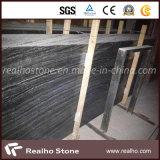 Сляб Китая Nero черный античный деревянный мраморный
