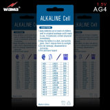 Batteria alcalina delle cellule del tasto di AG4 1.5V