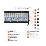 barra ligera LED del coche de cuatro filas de 108W para el vehículo campo a través (HCB-LCB1084)