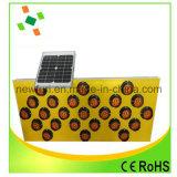 Poteau de signalisation de clignotement de panneau solaire de DEL