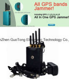 Emittente di disturbo professionale del segnale di GPS del blocchetto dell'emittente di disturbo del segnale di GPS L1-L5 della Pieno-Fascia