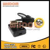 黒く再充電可能なLEDヘッドランプの充電器
