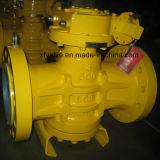 Válvula de enchufe lubricada balance invertida API6d del sello de petróleo de la presión Flange/RF