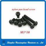 Винт M2.5 M3 M4 плоских/лотка головной белый пластичный Nylon