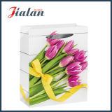 Тип веревочки тесемки деревянный цветет ежедневные сумки бумаги подарка покупкы