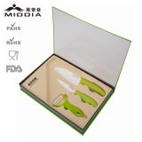 3 PCS Ceramic Kitchenware pour Fruit Knife+Utility Knife+Peeler Set