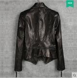 Veste en cuir véritable courte pour femmes