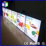 Menu Backlit LED della cornice per il segno del contenitore chiaro di alimenti a rapida preparazione del ristorante