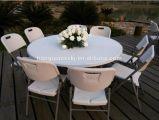 Круглый пластичный складной столик, используемая Wedding таблица