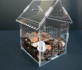 Cadre Shaped de ramassage de pièce de monnaie de Chambre acrylique claire neuve