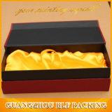 Boîte-cadeau de cannelure de Champagne de bloc supérieur