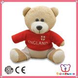 Brinquedo enchido macio do urso da peluche do luxuoso do coração vermelho barato da promoção do fabricante de China