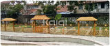 Jogos ao ar livre de madeira do campo de jogos das crianças de Kaiqi para o parque residencial, pátio traseiro, hotel Gardenl (KQ60094A-I)