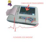 O Ce do preço de fábrica aprovou o electrocardiógrafo ECG do toque da cor de Digitas 6-Channel (EKG-923) - Fanny