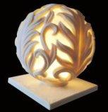 Lampen-Laterne des Sandstein-Kugel-Skulptur-Audiolautsprecher-LED für Garten-Dekoration
