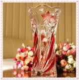 Florero de cristal cuadrado claro de la alta calidad