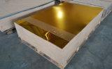 feuille acrylique de Platsic de miroir d'or de 3mm
