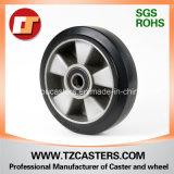 Alta rueda de goma elástico con el centro de aluminio Ra180*50