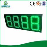 Panneau de carte de chiffre de gaz de la couleur verte DEL