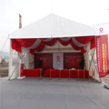 Double tente en aluminium enduite d'exposition d'événement de PVC