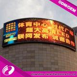 Visualización de LED publicitaria curvada a todo color caliente de la venta P10