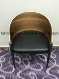 Bentwood Aufenthaltsraum-Stuhl mit PU-ledernem Kissen für Kaffee (FOH-BCC34)