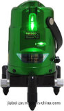 A mão utiliza ferramentas linhas nível Self-Leveling do feixe verde de Danpon as multi do laser com tipo Vh800 dos pontos do prumo
