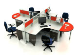Modern Elegant Aluminium Workstation 4 Seaters Office Cubicle (HF-YZ030)